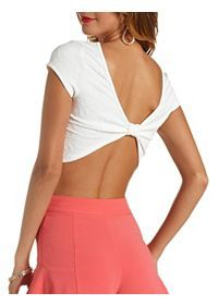 Quilted Bow-Back Crop Top