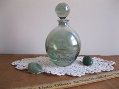 New Item Vintage SC Italy Crystal Perfume Decanter by Reshopgoods