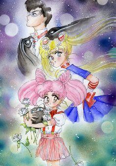 sailor moon,chibiusa e milord by ladymadge.deviantart.com on @deviantART