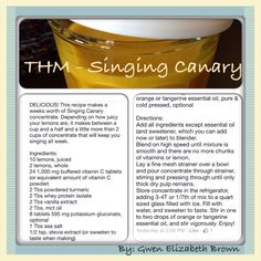 THM - singing canary  By - Gwen Elizabeth Brown