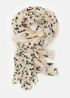 I really want a bird scarf, I like the white and black, or a grey with white birds. What do you think @Liz Mester Mester Mester Mester Mester Arvin ?