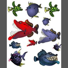 Fish With Attitude Collection by Mike Quinn Temporary Tattoos | Zazzle