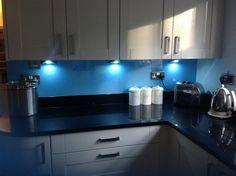 Blue Glass Kitchen Backsplashes