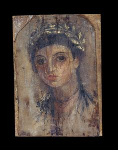 Mummy Portrait of a girl AD 50-70 Roman Egypt (Source: The British Museum)