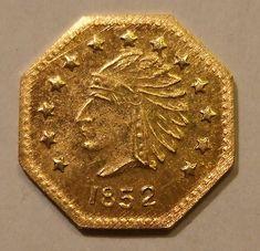USA, CALIFORNIA GOLD RUSH, GOLD 1852 ---HALF DOLLAR a ...