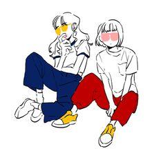 Faith and Lily Character Illustration, Graphic Illustration, Art Illustrations, Pretty Art, Cute Art, Posca Art, Dibujos Cute, Estilo Anime, Character Design Inspiration