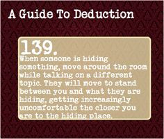 A Guide To Deduction #139. That's right, I used the pound sign, as a pound sign.<<<lol