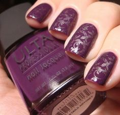 Base color:  Ulta Cocktails Anyone  Stamp: China Glaze Chords and BM20
