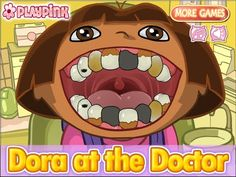 Dora The Explorer At Doctor - Dora Dentist Day