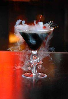 Halloween Party Ideas - Black Magic Martini