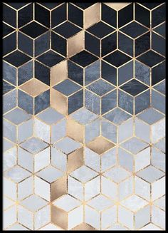 Gradient cubes Poster in the group Posters & Prints / Sizes / 50x70cm | 19,7x27,6 at Desenio AB (2811)