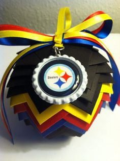 Pittsburg Steelers Pinecone Ornament  by SunflowerPacific on Etsy, $15.00......want it!