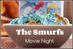 Making family movie night FUN with a BLUE dinner and the Smurfs 2 on dvd.  We're having blue noodles with alfredo sauce, Tyson Honey Dipped Tenders, chocolate covered pretzels, and blue drinks!
