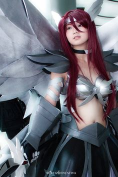 Erza Scarlet, Fairy Tail? I think?  I'm not familiar with her, but this was too cool.