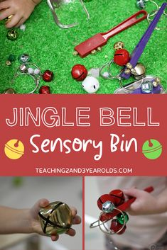 During the holidays include jingle bells for your preschoolers - in the sensory bin! This is a fun way to learn about magnets as the children pick up the bells (and other magnetic materials) with wands.