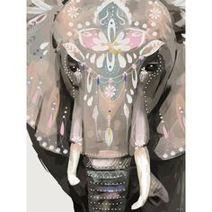 Bungalow Rose An elephant friend with a bohemian vibe! Who needs the desert when they have the perfect festival art. Shop this 'Dharma the Elephant' Acrylic Painting Print and more trendy animal art. Format: Stretched Canvas, Size: H x W x D Elephant Artwork, Elephant Canvas, Elephant Paintings, Elephant Wall Decor, Elephant Print, Indian Paintings, Animal Paintings, Art Paintings, Abstract Paintings