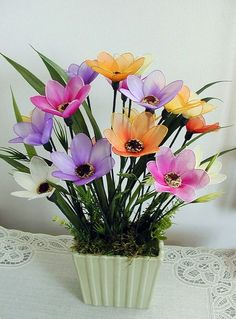 Handmade Vibrant Summer Flowers Arrangement