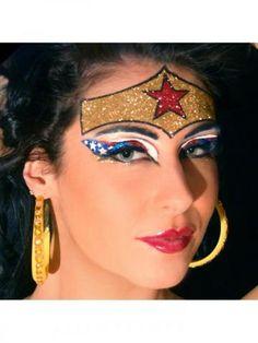 Wonderous Eye Kit W/Rhinestone Lashes #eyes #makeup #wonderwoman #costume #halloween #superhero