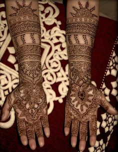 Mehndi or henna in traditional style