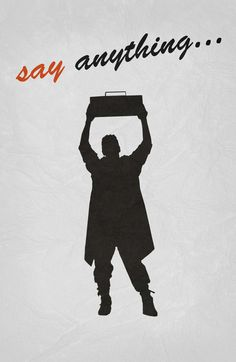 Say Anything (1989) ~ Minimal Movie Poster by Begum Ozdemir #amusementphile