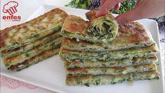 DENEDİKTEN SONRA⏩ HERKES BU BÖREĞİN😋 LEZZETİNE BAYILDI 👍EN KOLAYINDAN TAVADA OTLU BÖREK TARİFİ..... - YouTube I Love Food, Good Food, Yummy Food, Arabian Food, Lettuce Wrap Recipes, Snacks Für Party, Food Decoration, Turkish Recipes, Galette