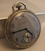 Elgin Art Deco Pocket Watch – Gold Filled Case – 17 Jewels – Circa: 1926