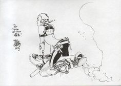 Goran Parlov Rhymes With Omni: ungoliantschilde: some black and white artwork...