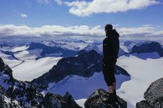 It must feel like you're standing on top of the world.  Galdopiggen Mountains - Norway