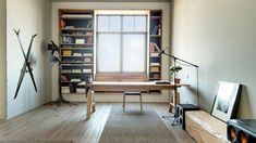 """If you're a fan of the """"less is more"""" approach to interior design, you might appreciate this minimalist workspace setup."""