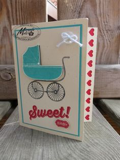 Stampin Utopia Bestel Stampin' Up! Hier: Sweet Baby Card, hearts border punch, something for baby