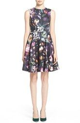Ted Baker London 'Inesia' Floral Print Fit & Flare Dress