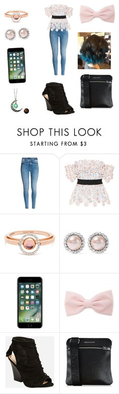 """Sarah's outfit #25"" by smsamuel22 ❤ liked on Polyvore featuring self-portrait, Marie Mas, Miu Miu, Forever 21, Ashley Stewart and Armani Jeans"