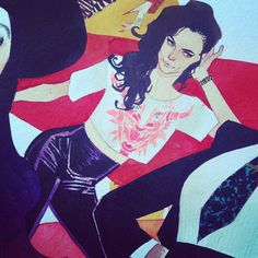 Kitty Pryde - close up detail - Kevin Wada
