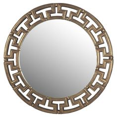 Bring classic appeal to your entryway or living room with this Art Deco-inspired wall mirror, showcasing an openwork frame in a gold-toned finish.