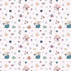 Tea Party Pattern pattern by Nina Stajner