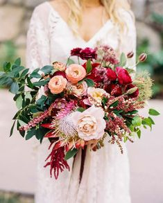 ranunculus bright and cheery red nature-filled bouquet