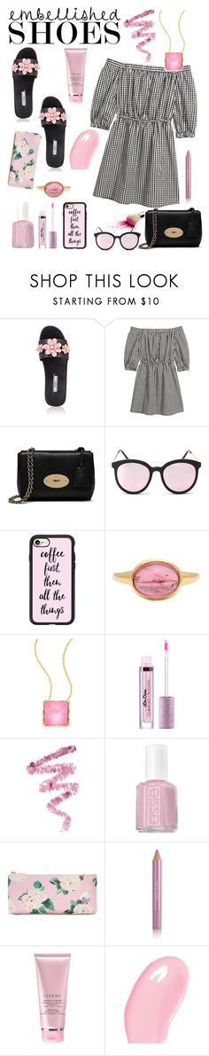 """Senza titolo #6099"" by waikiki24 ❤ liked on Polyvore featuring Prada, Mulberry, Casetify, Helen Ringus, Alexis Bittar, Cynthia Rowley, Essie, ban.do, Estée Lauder and By Terry"