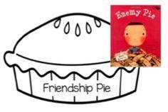 Friendship Pie- Enemy Pie Activity by Alex Herrin Enemy Pie Activities, Kindness Activities, Book Activities, Preschool Activities, Health Activities, Teaching Resources, Teaching Ideas, Friendship Theme, Friendship Activities