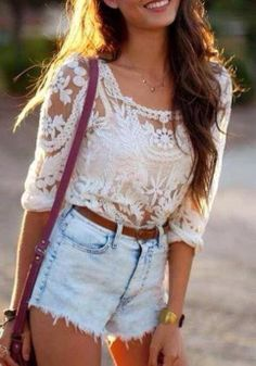 Ivory Lace Crochet Top