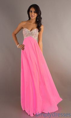 perfect pink shade for a prom dress.not too light nor dark