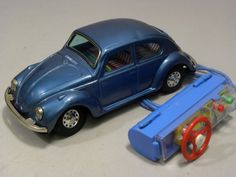 RARE Volks Wagen 1960s Tin Toy Car Remote control handle Bandai Japan HTF 1457 #Bandai