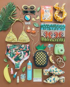 Ready for fireworks🎇 which do you like best- 2 or 🥓🇺🇸⭐️🌭💙✨ Summer Summer Summertime, Flat Lay Inspiration, Tropical Fashion, Vsco Photography, Flatlay Styling, Exotic Fruit, Surf Style, Summer Accessories, Cute Makeup