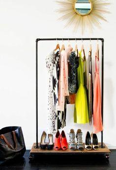 Hängende Kleiderstange kleiderstange selber bauen die hängende kleiderstange upcycling