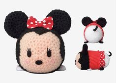 step by step videos for crocheted tsum tsum minnie mouse