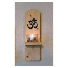 Pair of OM symbol Wooden wall sconces. 2 quality pieces of wood wall art. Candle shelf. Rustic decor. Ideal spiritual gifts.  #yoga #meditation #mindfulness #spiritualgifts  #om #chanting #healing #waynedyer