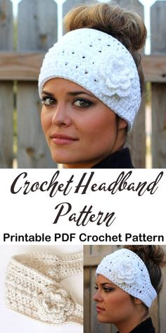 Make a pretty ear warmer. Read more The post Make a pretty ear warmer. headband crochet pattern- ear warmer crochet pattern pdf & amorecraftylife appeared first on How To Be Trendy. Crochet Headband Free, Crochet Beanie, Free Crochet, Crochet Granny, Hdc Crochet, Knit Headband, Baby Headbands, Loom Knitting Patterns, Crochet Patterns