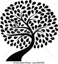 tree silhouette vector free - Google Search