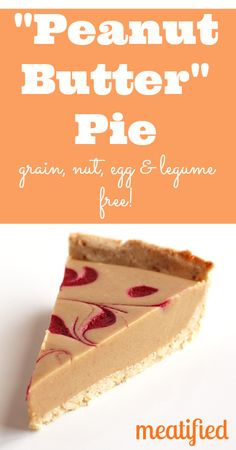 Paleo Peanut Butter Pie from http://meatified.com | Grain, dairy, egg & nut free! #paleo #glutenfree