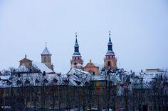 Ludwigsburg in Bildern: Evang. Stadtkirche,  Kath. Kircheam Marktplatz L...