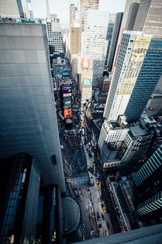 A spectacular view of Times Square, NYC from above. New York City and its most visited destination.
